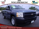 2008 Blue Granite Metallic Chevrolet Silverado 1500 Work Truck Regular Cab #74247226