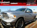 2011 Bright Silver Metallic Dodge Ram 1500 Laramie Crew Cab #74256232