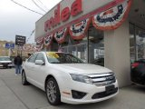 2010 White Platinum Tri-coat Metallic Ford Fusion SEL V6 AWD #74256600