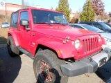 2010 Flame Red Jeep Wrangler Sahara 4x4 #74256591