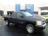 2010 Black Granite Metallic Chevrolet Silverado 1500 LT Extended Cab 4x4 #74256284
