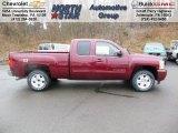 2013 Deep Ruby Metallic Chevrolet Silverado 1500 LT Extended Cab 4x4 #74256278