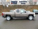 2013 Mocha Steel Metallic Chevrolet Silverado 1500 LT Extended Cab 4x4 #74256276