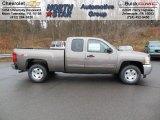 2013 Mocha Steel Metallic Chevrolet Silverado 1500 LT Extended Cab 4x4 #74256275
