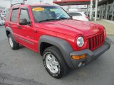 2002 Flame Red Jeep Liberty Sport 4x4 #74256482