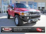 2009 Victory Red Hummer H3  #74308193
