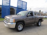 2013 Mocha Steel Metallic Chevrolet Silverado 1500 LS Regular Cab 4x4 #74307679