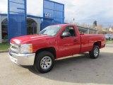 2013 Victory Red Chevrolet Silverado 1500 LS Regular Cab 4x4 #74307678