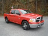 2009 Flame Red Dodge Ram 1500 SLT Crew Cab #74308274