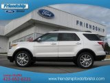 2013 White Platinum Tri-Coat Ford Explorer Limited 4WD #74307642