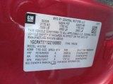 2013 Chevrolet Silverado 1500 LTZ Extended Cab 4x4 Info Tag
