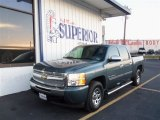 2009 Blue Granite Metallic Chevrolet Silverado 1500 LS Crew Cab #74368777