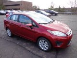 2013 Ruby Red Ford Fiesta SE Sedan #74368870