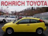 2005 Egg Yolk Yellow Ford Focus ZX3 SE Coupe #74369532