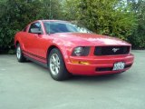 2007 Torch Red Ford Mustang V6 Deluxe Coupe #74369520