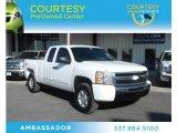 2009 Summit White Chevrolet Silverado 1500 Extended Cab 4x4 #74369262