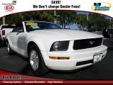 2007 Performance White Ford Mustang V6 Deluxe Convertible #74369394