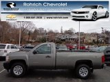 2013 Graystone Metallic Chevrolet Silverado 1500 Work Truck Regular Cab 4x4 #74369498