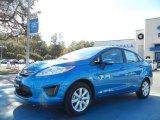 2013 Blue Candy Ford Fiesta SE Sedan #74368823