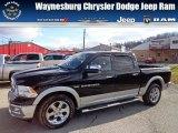2012 Black Dodge Ram 1500 Laramie Crew Cab 4x4 #74368980