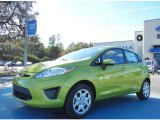 2013 Lime Squeeze Ford Fiesta SE Hatchback #74368820