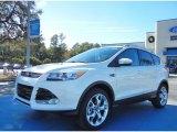 2013 White Platinum Metallic Tri-Coat Ford Escape Titanium 2.0L EcoBoost #74368818