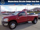 2008 Inferno Red Crystal Pearl Dodge Ram 3500 ST Regular Cab 4x4 Dually #74368977