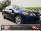 2013 Obsidian Blue Pearl Honda Accord LX Sedan #74368652