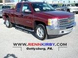 2013 Deep Ruby Metallic Chevrolet Silverado 1500 LT Extended Cab 4x4 #74369217