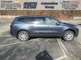 2013 Atlantis Blue Metallic Chevrolet Traverse LT AWD #74433987
