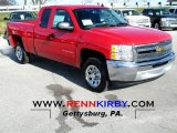 2013 Victory Red Chevrolet Silverado 1500 LS Extended Cab #74434233