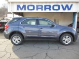 2013 Atlantis Blue Metallic Chevrolet Equinox LS AWD #74433856
