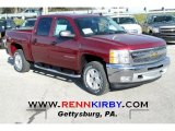 2013 Deep Ruby Metallic Chevrolet Silverado 1500 LT Crew Cab 4x4 #74434230