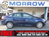 2012 Kona Blue Metallic Ford Focus SEL Sedan #74433847