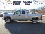 2013 Silver Ice Metallic Chevrolet Silverado 1500 LT Extended Cab 4x4 #74433975