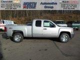 2013 Silver Ice Metallic Chevrolet Silverado 1500 LT Extended Cab 4x4 #74433974