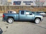 2013 Blue Granite Metallic Chevrolet Silverado 1500 LT Extended Cab 4x4 #74433972