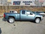 2013 Blue Granite Metallic Chevrolet Silverado 1500 LT Extended Cab 4x4 #74433971