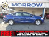 2013 Deep Impact Blue Metallic Ford Fusion S #74433840