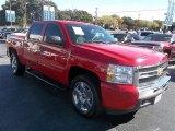 2009 Victory Red Chevrolet Silverado 1500 LT Crew Cab #74433790