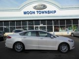 2013 White Platinum Metallic Tri-coat Ford Fusion SE 1.6 EcoBoost #74434014