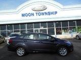 2013 Violet Gray Ford Fiesta SE Sedan #74434010
