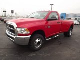 2012 Flame Red Dodge Ram 3500 HD SLT Regular Cab 4x4 Dually #74489849