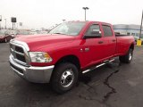 2012 Flame Red Dodge Ram 3500 HD ST Crew Cab 4x4 Dually #74489847