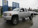 2013 Silver Ice Metallic Chevrolet Silverado 1500 LT Extended Cab 4x4 #74489608
