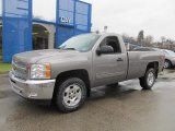2013 Mocha Steel Metallic Chevrolet Silverado 1500 LT Regular Cab 4x4 #74489606