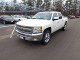 2013 White Diamond Tricoat Chevrolet Silverado 1500 LT Crew Cab #74490050