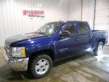 2013 Blue Topaz Metallic Chevrolet Silverado 1500 LT Crew Cab 4x4 #74544018