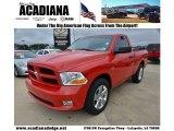 2012 Flame Red Dodge Ram 1500 Express Regular Cab #74543814