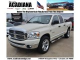 2008 Cool Vanilla White Dodge Ram 1500 Big Horn Edition Quad Cab #74543811